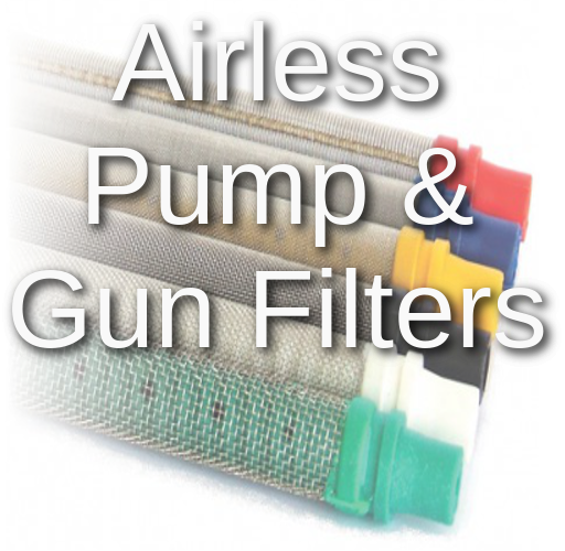 airless spray gun and airless spray machine filters